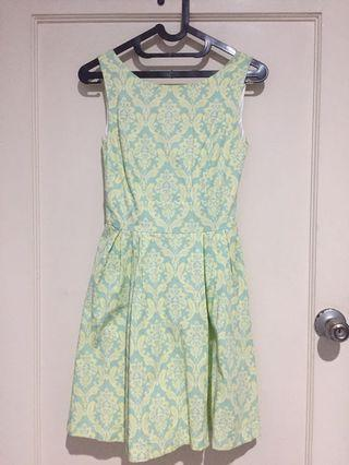 Green Flowery Dress