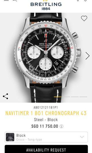 Breitling Navitimer B01 Chronograph 43mm