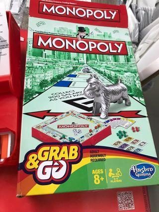 Monopoly Grab Go Board Game