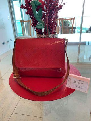 Louis Vuitton Red Vernis Sling Bag