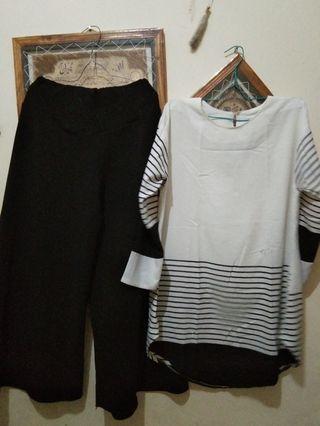 kulot dan blouse
