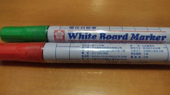 🚚 櫻花白板筆/紅/綠