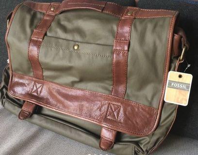 Leather briefcase sling bag