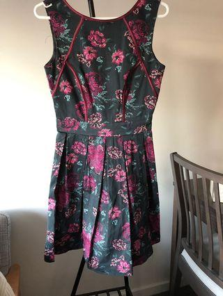 A line black and maroon dress Dorothy Perkins