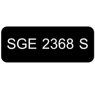 Car Number Plate for Sale: SGE 2368 S