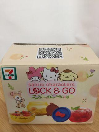 7-11 X Sanrio Characaters LOCK & GO 收納盒二個 $20