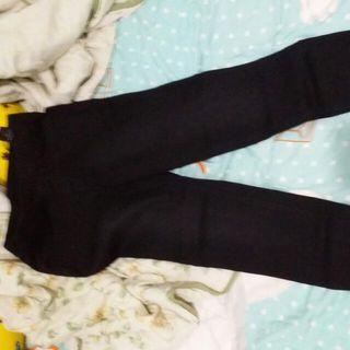 Baleno黑色褲,橡筋腰