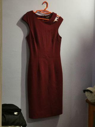 Zalora Maroon Dress