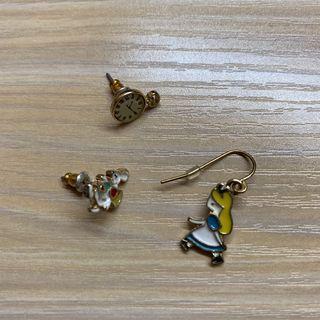 愛麗絲耳環 一套三隻