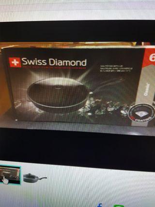 🚚 瑞士(Siss Diamond)進口鑽石深煎鍋28CM