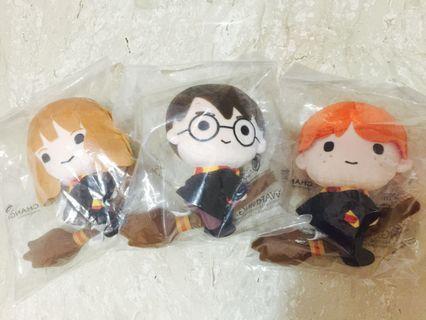 Changi Airport Harry Potter,Ron,Hermoine Hogwarts Wizarding World Series Plush Toys