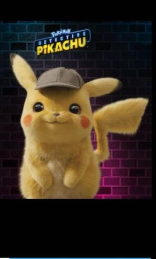 Limited Edition Detective Pikachu Stuffed Toy Plush Toy