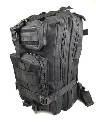 Rugged EDC Black Tactical Backpack for Men
