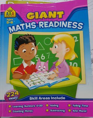Giant Maths School Day Skill kids books