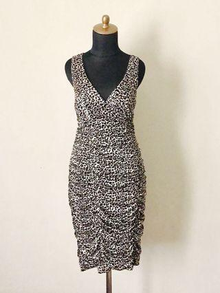 Ruby Rox Awesome Draped Leopard Print Dress #mauvivo