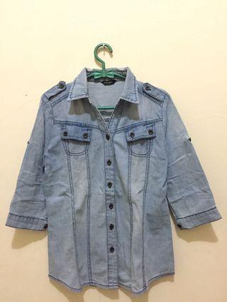#BAPAU Light Blue Denim Shirt