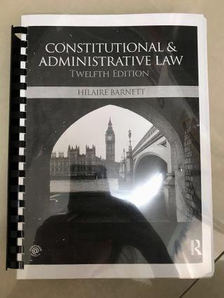 CONSTITUTIONAL AND ADMINISTRATIVE LAW / PUBLIC LAW TEXTBOOK