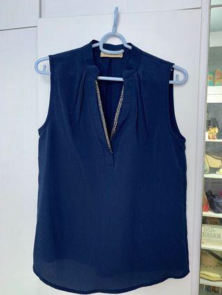 Brand new Blue Sleeveless Top with sequins