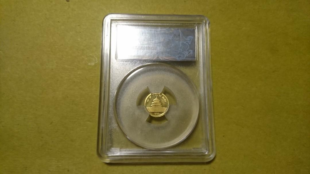 1989 中國熊貓金幣 面值5元