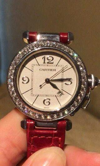 Authentic Cartier diamond watch