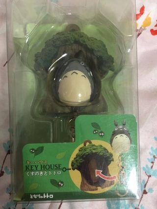 Totoro key chain with key chain house