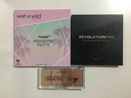 Drugstore Highlighter Palettes