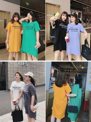Plus Size Slogan Tshirt Dress