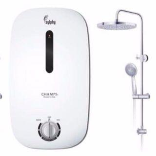 Water Heater With Rain Shower