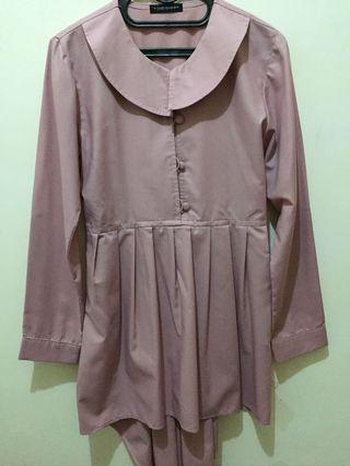 Peplum Top by hijabqueen - Dusty Pink
