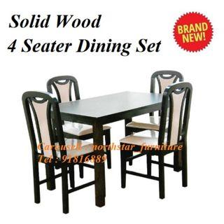 Wooden Dining Set ( 1 Dining Table + 4 Dining Chair )