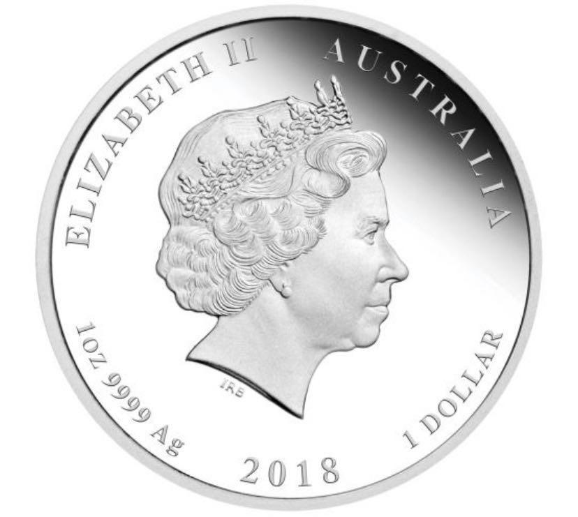 澳洲2018年龍鳳呈祥9999銀幣1oz