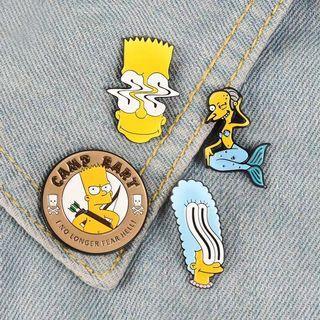 [BUY 3 FREE 1] Bart Simpson enamel pin