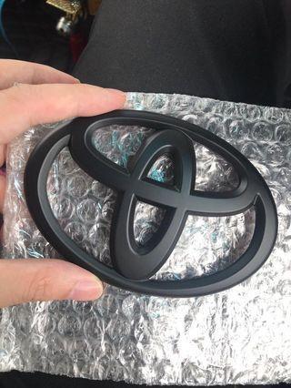 全新 豐田 Toyota 啞黑車章