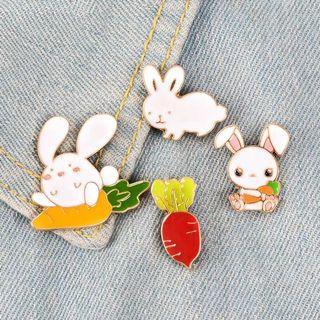 [BUY 3 FREE 1] rabbit enamel pin