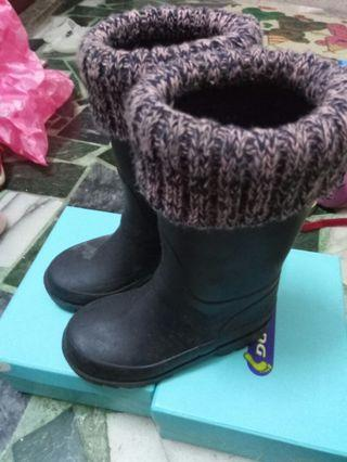 Zara 女童 26號 雨鞋 靴子 風格 真的只穿過一次