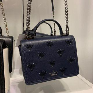 Kate Spade Maisie Small Patterson Embellished Crossbody in Blazerblue