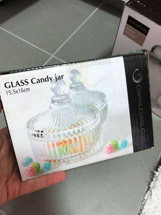 Glass candy jar apothecary jar for desserts table deco and wedding
