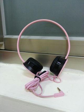 🚚 Hoomia 好米亞 耳罩式麥克風耳機 粉 台製 MIT