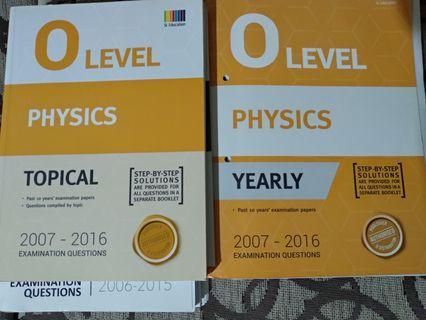 GCE 'O' physics (2007-2016)
