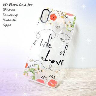 3D Flora Case Cover for iPhone Samsung Huawei OPPO