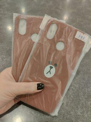Line (Brown) Back Cover for Xiaomi Mi 8