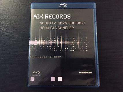 🚚 AIX records Audio calibration disc and HD music sampler