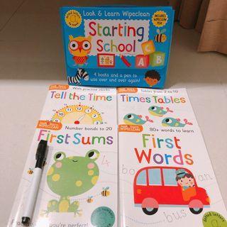Wipe clean book - starting school