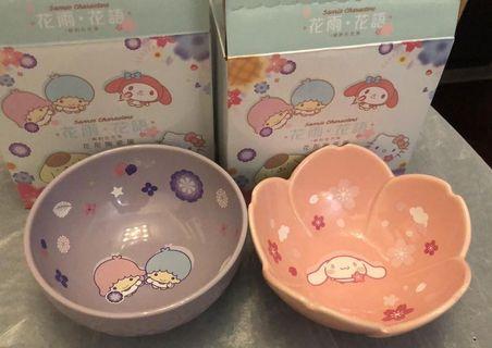 7-eleven Sanrio 花雨花語茶形陶瓷碗