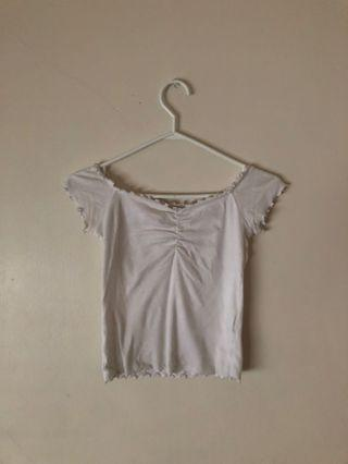 Hollister White Brandy inspired shirt