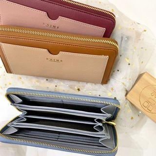 Authentic Taiwan S'aime Yosh two tone Leather Long Wallet