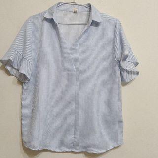 🚚 荷葉袖襯衫$50