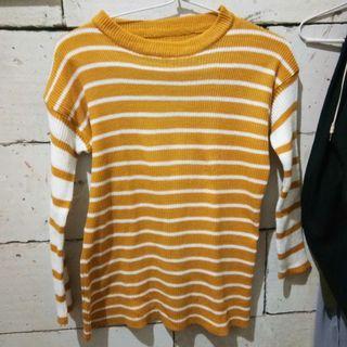 strip shirt rajut baju garis