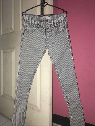 Stripe pants uk 28-29 new