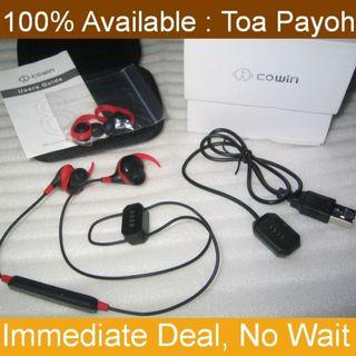 HE8 Bluetooth in-ear earphones . Wireless stereo earphones . with Noisee Cancellation
